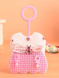 design do vestido da menina com alça favor bag-conjunto de 12