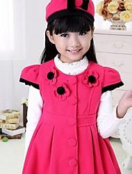 Girl's Hooded Sleeveless Woolen Vest Dress