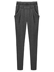 ts Frauen Casual aktiv elastische Taille warme Hosen Zecken