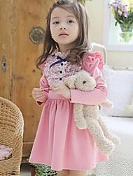 vestidos de flores de moda de vestidos de la muchacha de la caída de la princesa encantadora