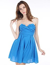 Women's Sexy / Party Dress Above Knee Polyester