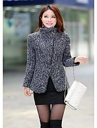Women's Coats & Jackets , Wool Bodycon/Casual Toato
