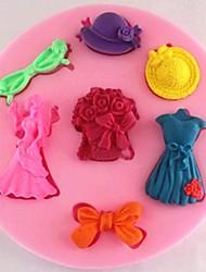 bouquets de mariée gâteau jupe Fondant moule en silicone chocolat