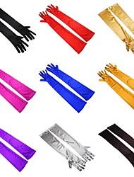 Ellebooglengte Vingertoppen Stretchsatijn Bruidshandschoenen Handschoen