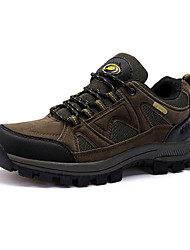 Men's Hiking Shoes Suede Brown/Green/Gray