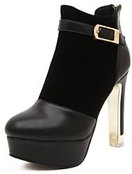 botines zapatos de moda las botas stiletto talón de las mujeres con la hebilla