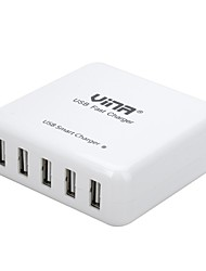 vina portable 40w 8a grande vitesse 5-port usb chargeur intelligent rapide pour iPhone / iPad / smartphone / tablette pc (US Plug)