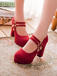Women's Shoes Round Toe Chunky Heel Pumps with Chain Shoes More Colors available