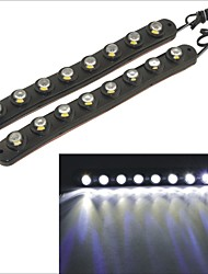 Carking™ Waterproof Flexible Eagle-eye 8SMD Car Decorative Daytime Running Light-Black(2PCS)
