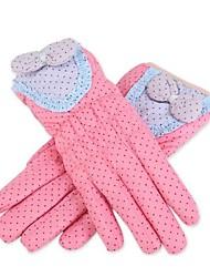 papillon dentelle de mode de haute qualité vers le bas point de gants chauds de vague de coton des femmes en plein air