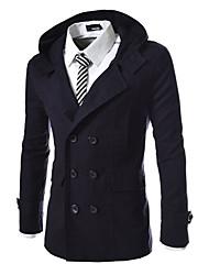 x-man Männer Doppel-Reißverschluss dünner Mantel