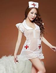 enfermera sexy cosplay uniforme transparente de las mujeres