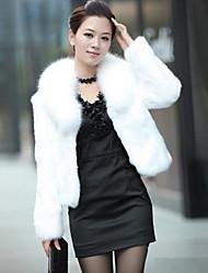 coko coreano piel sintética tipo abrigo corto