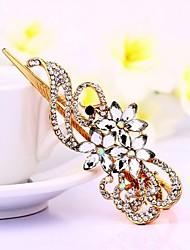 mujeres 's nuevas horquillas pico rhinestone flor