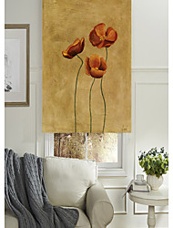 Oil Painting Style Vivid Floral Cluster Roller Shade