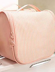bolsas de cosméticos de la venta caliente de color rosa raya multifunción