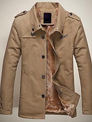 leitin homens lapela pescoço tudo combinando casaco cor sólida