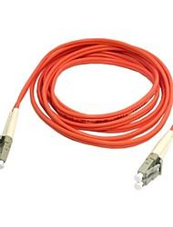 10m 30 pés dupla lc a fibra lc patch cord cabo de ligação sm simplex óptica única modo de rede