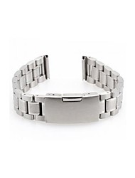 Men Women 18mm Silver Steel Watch Band Strap Bracelet Curved End High Quality