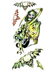 1pc Death Zombie Waterproof Tattoo Sample Mold Temporary Tattoos Sticker for Body Art(18.5cm*8.5cm)