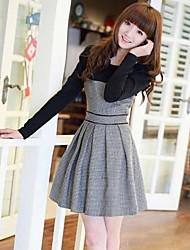 casual contraste couleur robe de JFS femmes