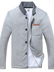 Men's Coats & Jackets , Cotton Long Sleeve Casual Jianda