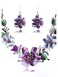 Ensemble de bijoux Alliage Mode Bijoux de Luxe Set de Bijoux Soirée Occasion spéciale Anniversaire Colliers décoratifs Boucles d'oreille