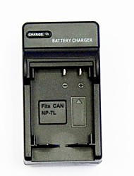 câmera carregador de bateria para canon np-7l