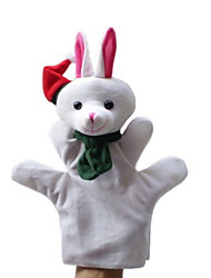 noël neige lapin de grande taille des marionnettes jouets