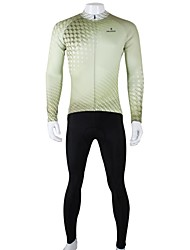 PALADIN® Cycling Jersey with Tights Men's Long Sleeve Bike Breathable / Quick Dry Jersey + Pants/Jersey+Tights / Clothing Sets/Suits100%