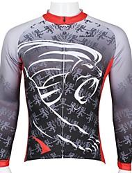 ILPALADINO Camisa para Ciclismo Homens Manga Comprida Moto Respirável Secagem Rápida Resistente Raios Ultravioleta Blusas 100% Poliéster