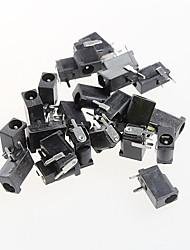prise de courant continu femelle jack d'alimentation, dc-002, 3.5-1.1mm prise 1.3mm 3 broches (20pcs)