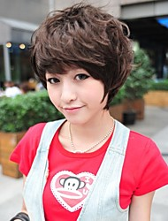 Fashion Short Brown Curly Hair Wig