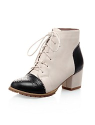 Women's Shoes Round Toe Chunky Heel Ankle Boots with Lace-up More Colors available