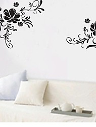 Wall Stickers Wall Decals, Flower Stripe Home Decor Mural Wall Stickers