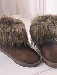 Enthone  Women's  Boots Copy The Fox Fur  Boots Fur  Boots Female 047 BrownCotton Shoes