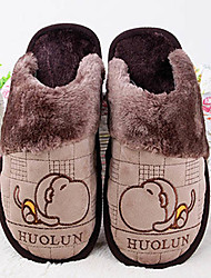 Men's Shoes Cute Monkey Winter Warmth Slide Rubber Slippers