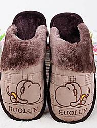 мужская обувь милые обезьяны зимой тепло слайд резиновые тапочки
