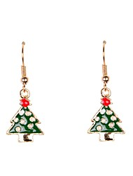 Cute Little Christmas Tree Earrings