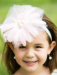 Women's/Flower Girl's Tulle Headpiece - Wedding/Special Occasion Flowers