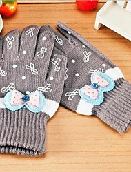 mode de distribution chaud arc tricots gants de femme de couleur aléatoire