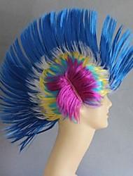 Blue Comb Hair Halloween Wig
