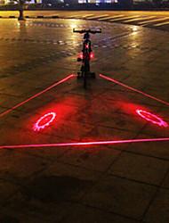 UNGROL 3 Red Lines+2 Flame Wheels Design 1 Laser Module 6 LED 6 Flash Mode Black Bike Warning Laser Light