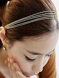 Golden Tassels Weave Multilayer Metal Chain Hair Band