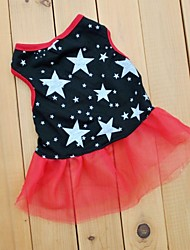 Dog / Cat Dress Black Summer Stars Wedding / Cosplay