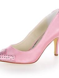 Women's Wedding Shoes Heels Heels Wedding Black/Blue/Yellow/Pink/Purple/Red/Ivory/White/Silver/Champagne