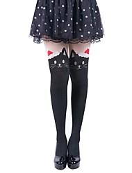 jacquard natal leggings desenhos animados das mulheres