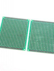 5 x 7cm Double-Sided Glass Fiber Prototyping PCB Universal Breadboard (2 pcs)