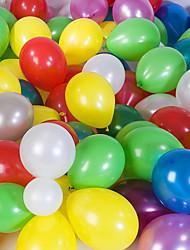 grande taille épais ballons ronds nacrés (couleur aléatoire, 100pcs)