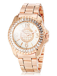 Women's Diamante Case Rose Gold Steel Band Quartz Fashion Watch (Assorted Colors) Cool Watches Unique Watches
